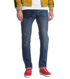 Dark Blue Dark Pocket Slim Jeans