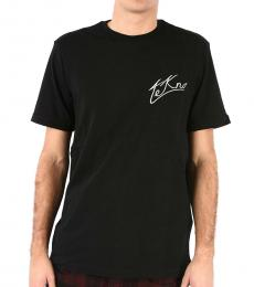 Diesel Black Embroidered T-Ront T-Shirt
