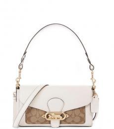 Coach Khaki Chalk Jade Small Shoulder Bag