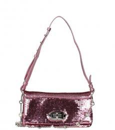 Miu Miu Pink Sequin Mini Shoulder Bag