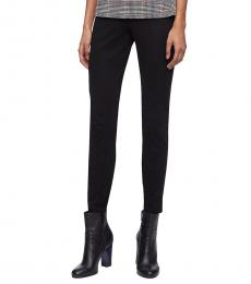 Black Stretch Ankle Pants
