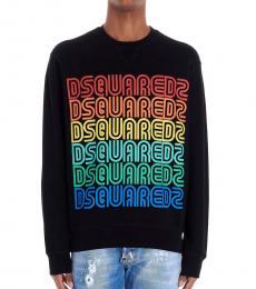 Dsquared2 Black Rainbow Logo Sweatshirt