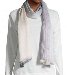Calvin Klein Black White Ombre Striped Scarf
