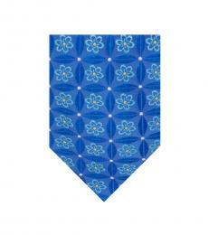 Ted Baker Blue Lattice Flower Tie