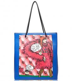 Blue Iconic Large Tote