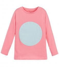 Stella McCartney Little Girls Pink Logo T-Shirt