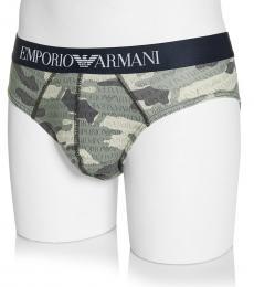 Emporio Armani Camo Print Allover Logo Stretch Underwear