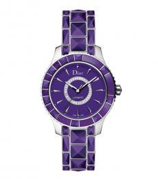 Christian Dior Purple Christal Automatic Watch
