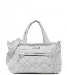 Marc Jacobs Ghost Grey Quilted Baby Bag