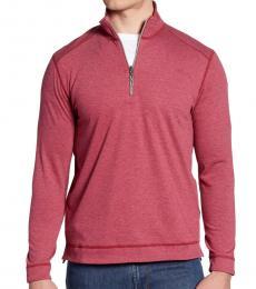 Tommy Bahama Red-Ferrara Flip Half Zip Pullover