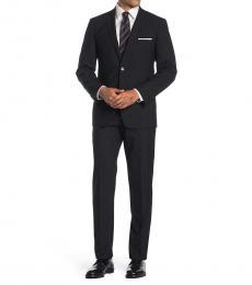 Vince Camuto Black Slim Fit 2-Piece Suit