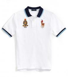 Ralph Lauren Boys White Big Pony Crest Polo