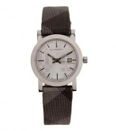 Burberry Silver-Grey Logo Watch