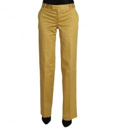 Mustard Straight Formal Trousers