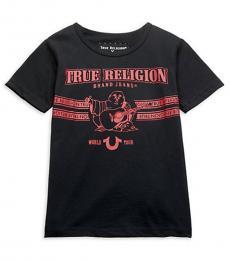 True Religion Boys Black Core Logo T-Shirt