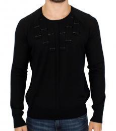Black Crewneck Pullover Sweater