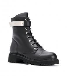 Giuseppe Zanotti Black Biker Ankle Boots
