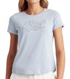 Ralph Lauren Logo Eyelet-Lace T-Shirt