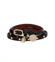Black-Gold Double Wrap Stud Bracelet