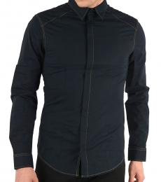 Navy Blue Slim Fit Shirt