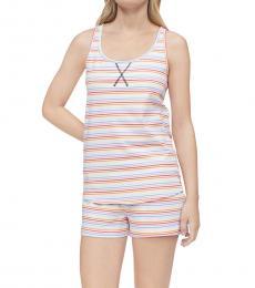 Calvin Klein Multi color Racerback Tank Shorts Pajama Set
