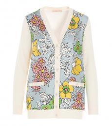 Tory Burch Multicolor Merino Wool Cardigan