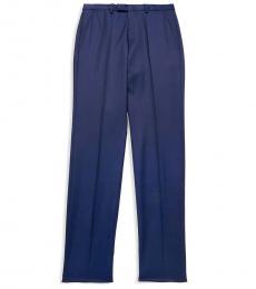 Hugo Boss Navy Blue Regular-Fit Wool Pants