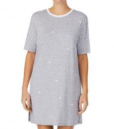 DKNY Grey Printed Sleep Shirt