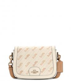 Off White Horse And Carriage Small Crossbody Bag