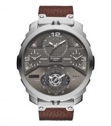 Brown Machinus Grey Dial Watch