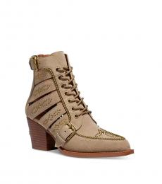 Coach Oat Paisley Cutout Studded Booties