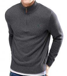 Charcoal Grey Half-Zip Sweater