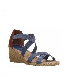 Denim Cortney Espadrille Wedges