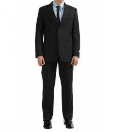 Armani Collezioni Off Black Notch Lapel Classic Fit Suit