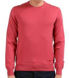 Armani Collezioni Peach Solid Crewneck Sweater