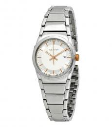 Silver Step White Dial Watch