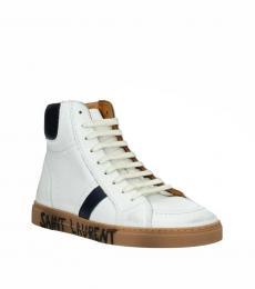 Saint Laurent White Joe High Top Sneakers