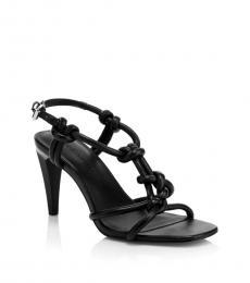 Black Laciann Knotted Heels