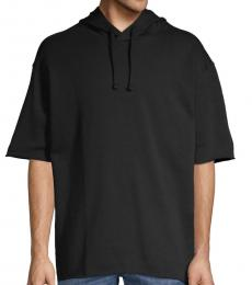 Hugo Boss Black Short-Sleeve Cotton Hoodie