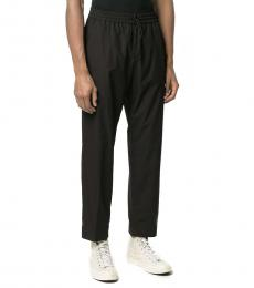 Kenzo Black Cotton Casual Trousers