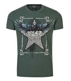 Bottle Green Graphic Print T-Shirt