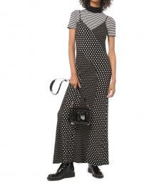 Michael Kors BlackWhite Mixed Dot Slip Dress