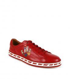 Bally Corvette Red Anistern Sneakers