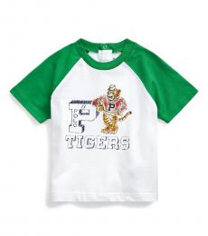 Ralph Lauren Baby Boys White Tigers Baseball T-Shirt