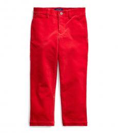 Ralph Lauren Little Boys Red Slim Fit Corduroy Pants