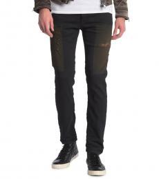 Black Slim Distressed Jeans