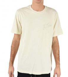 Diesel White Embroidered T-Ront T-Shirt