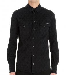 Dolce & Gabbana Black Allover Logo Shirt