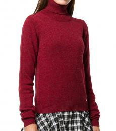 Dsquared2 Red Highneck Sweater