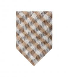 Taupe Gingham Tie